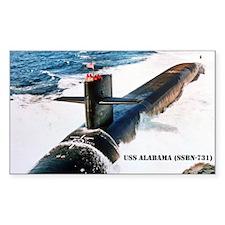 USS ALABAMA Rectangle Decal