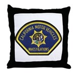 California DMV Investigator Throw Pillow