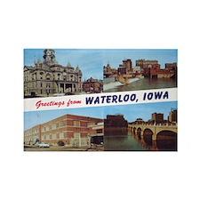 1950's Waterloo Iowa Rectangle Magnet