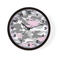 PINK CAMO Wall Clock