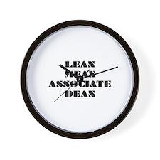 Lean Mean Associate Dean Wall Clock