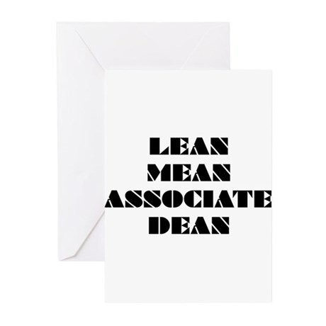 Lean Mean Associate Dean Greeting Cards (Pk of 10)