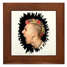 Punk Rock Scream Framed Tile