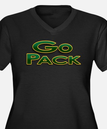 Go Pack! Green Bay Graphic T- Women's Plus Size V-