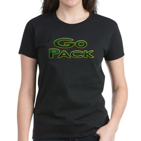 Go Pack! Green Bay Graphic T- Women's Dark T-Shirt