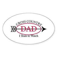 Cross Country Dad Oval Sticker (50 pk)