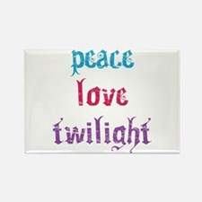 Peace Love Twilight 2 Rectangle Magnet