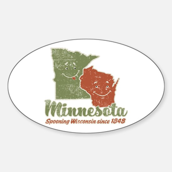 MN: Spooning WI Oval Decal