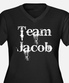Team Jacob 2 Women's Plus Size V-Neck Dark T-Shirt