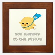 Soy Wonder Flying Framed Tile
