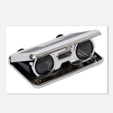 Silver folding opera glasses Postcards (Package of