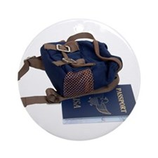 Passport and backpack Ornament (Round)
