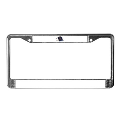 Passport and backpack License Plate Frame