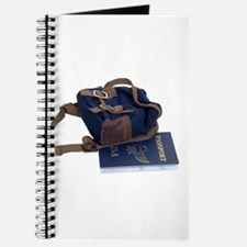 Passport and backpack Journal