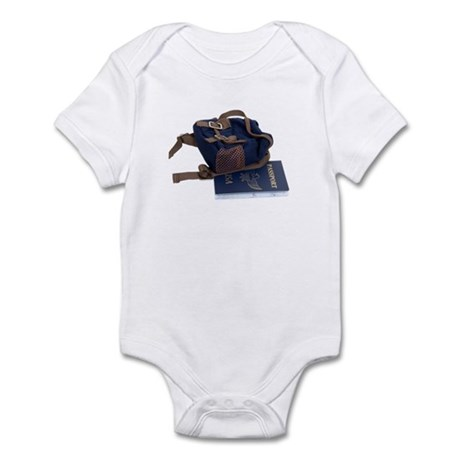 Passport and backpack Infant Bodysuit