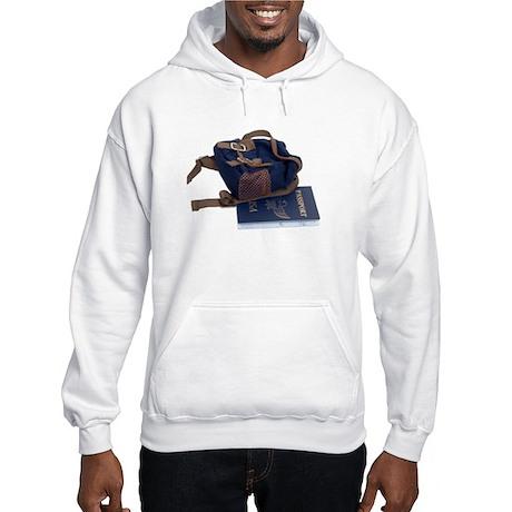 Passport and backpack Hooded Sweatshirt