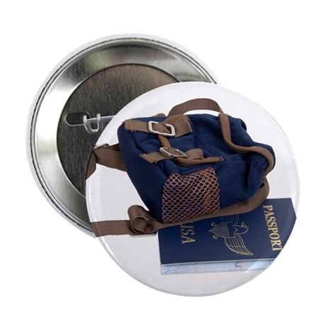 """Passport and backpack 2.25"""" Button (100 pack)"""