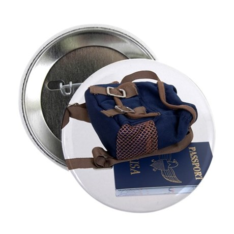 """Passport and backpack 2.25"""" Button"""