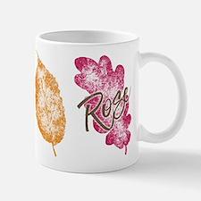 Rose Golden Girls Leaf Mugs