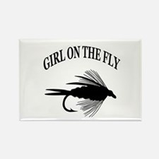 GIRL ON THE FLY Rectangle Magnet