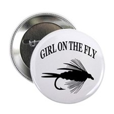 "GIRL ON THE FLY 2.25"" Button"
