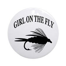 GIRL ON THE FLY Ornament (Round)
