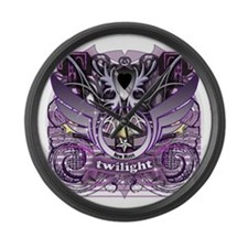 Twilight Royal Media Mix Crest Large Wall Clock