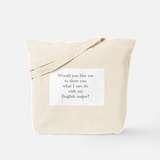 Do With An English Major Tote Bag