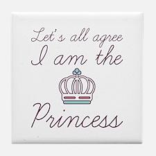 I Am The Princess Tile Coaster