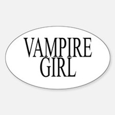 Zombie Girl Oval Decal
