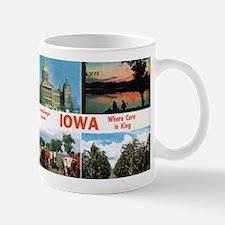 1950's Greetings from Iowa Mug
