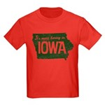 Iowa Boring Kids Dark T-Shirt