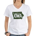 Iowa Boring Women's V-Neck T-Shirt