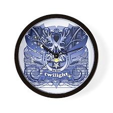 Twilight Royal Media Cobalt Wall Clock