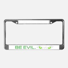 SHBE White License Plate Frame