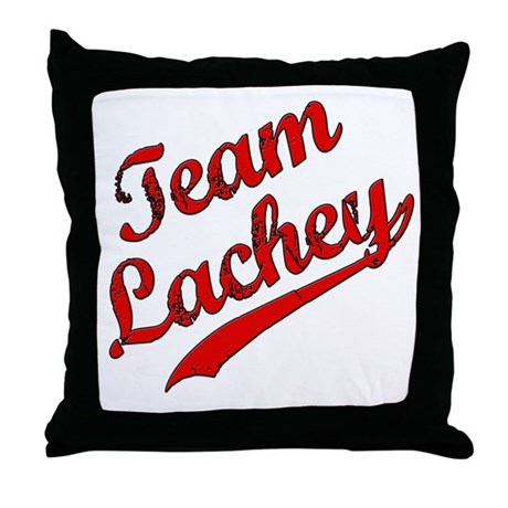 TEAM LACHEY Throw Pillow