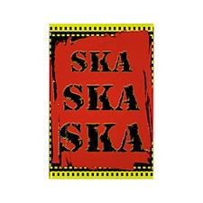 Ska Ska Ska Punk Rock Rectangle Magnet