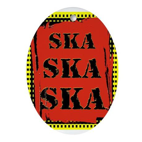 Ska Ska Ska Punk Rock Oval Ornament