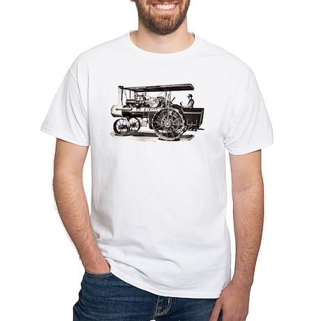 Baker Steam Tractor - White T-Shirt