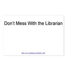 Don't Mess With the Librarian Postcards (Pkg of 8)