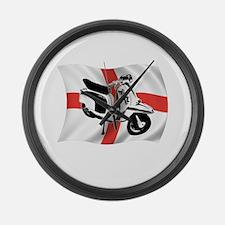 lambretta 2tone scooter Large Wall Clock