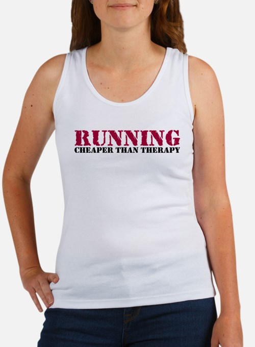 Running therapy red Women's Tank Top