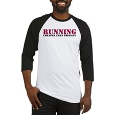 Running therapy red Baseball Jersey