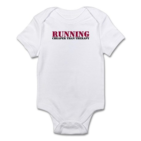 Running therapy red Infant Bodysuit