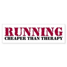 Running therapy red Bumper Sticker