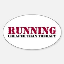 Running therapy red Decal