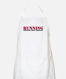 Running therapy red Apron
