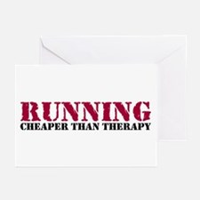 Running therapy red Greeting Cards (Pk of 10)