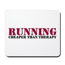 Running therapy red Mousepad