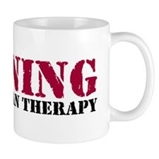 Running therapy red Mug